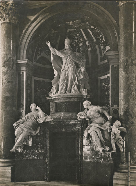 Pietro Bracci, Monumento funebre Lambertini
