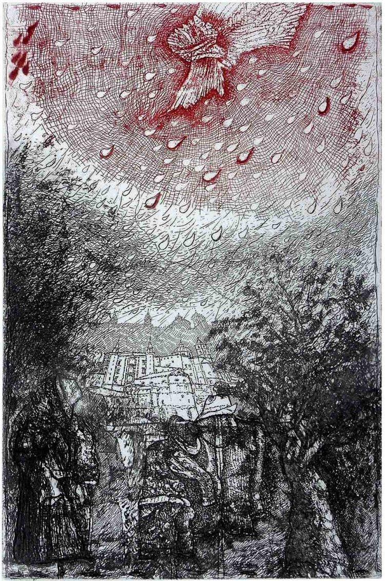 Tra il sogno e la memoria - acquaforte di Carlo Iacomucci