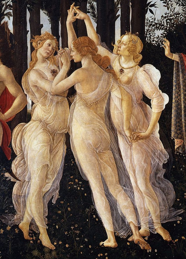 Sandro Botticelli , le tre grazie