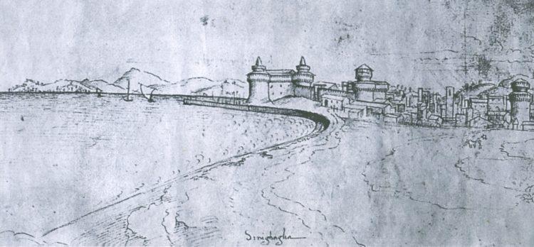 La prima cartolina di Senigallia