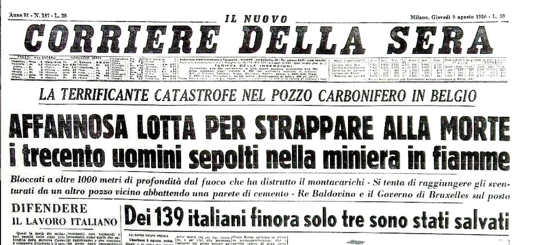Tragedia di Marcinelle: un dolore che gli italiani non dimenticano